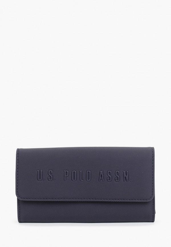 женский кошелёк u.s. polo assn, синий