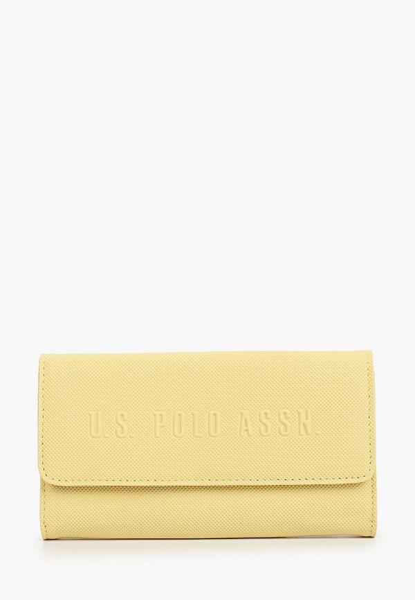 женский кошелёк u.s. polo assn, желтый