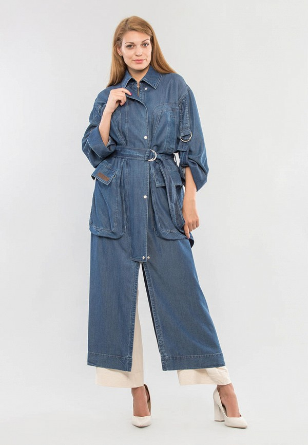 женская джинсовые куртка maxa, синяя