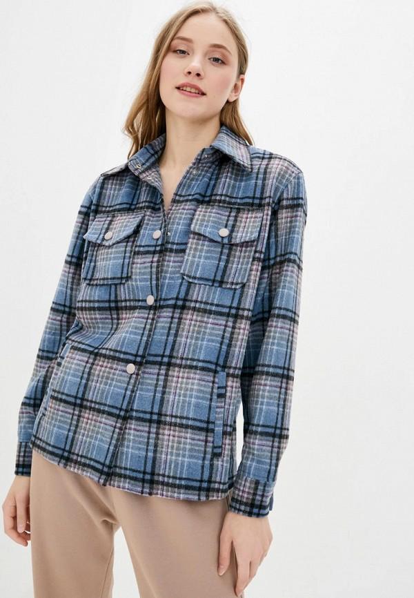 женская рубашка с длинным рукавом sfn, синяя