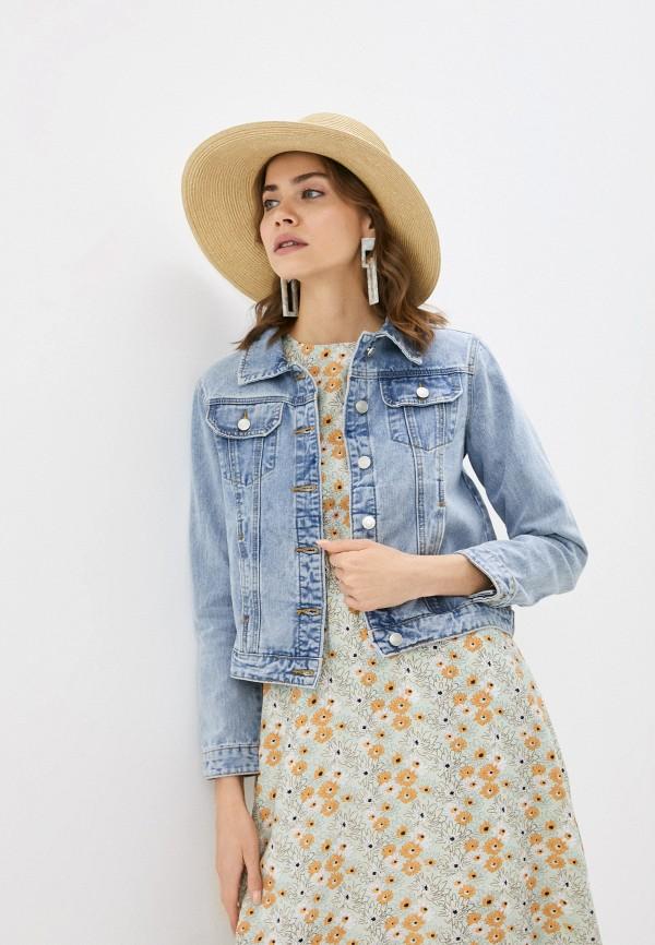женская джинсовые куртка baon, голубая