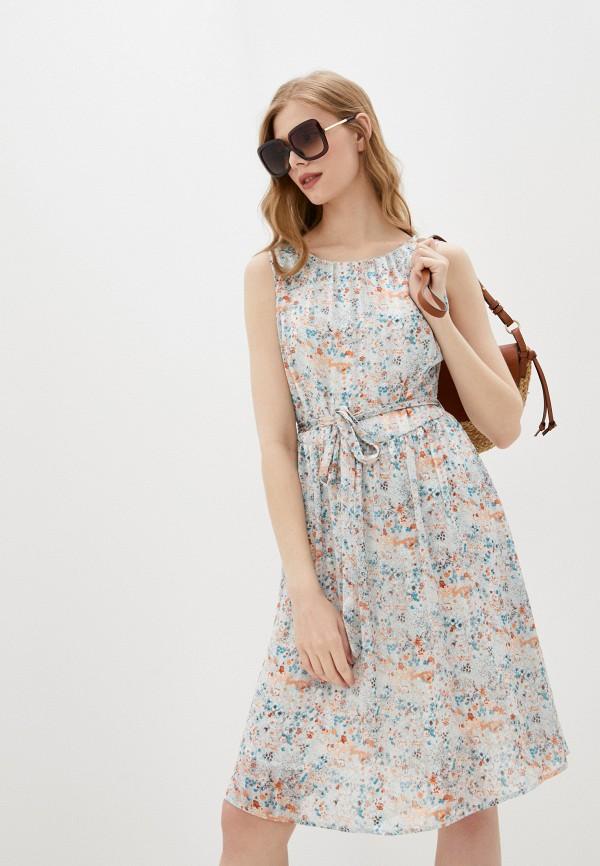 женское повседневные платье baon, голубое