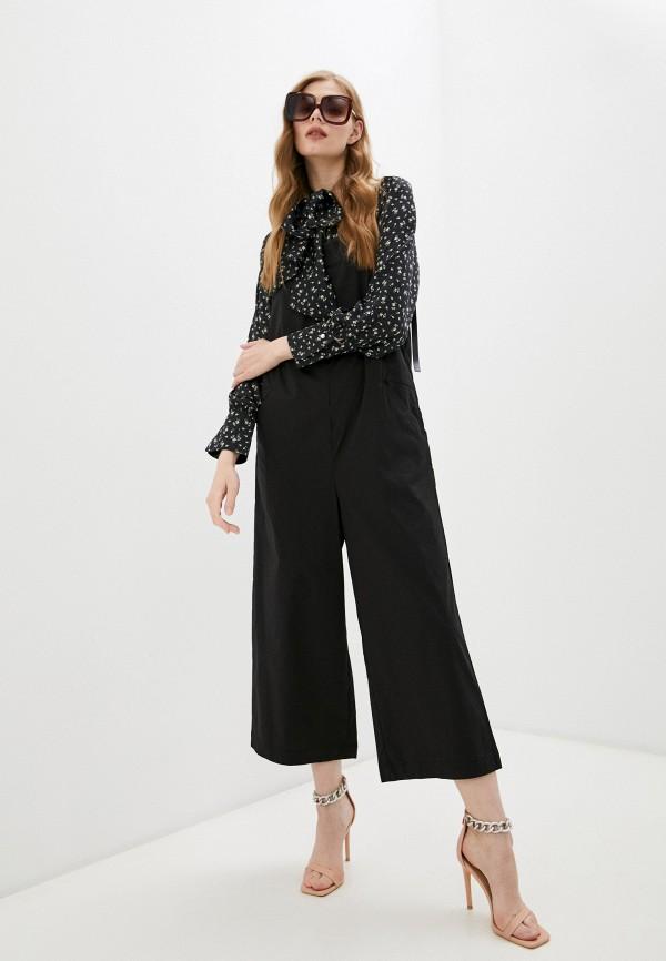 женский комбинезон с брюками baon, черный