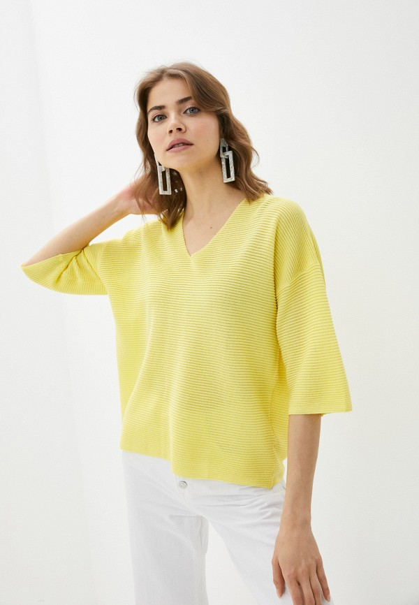 женский пуловер baon, желтый