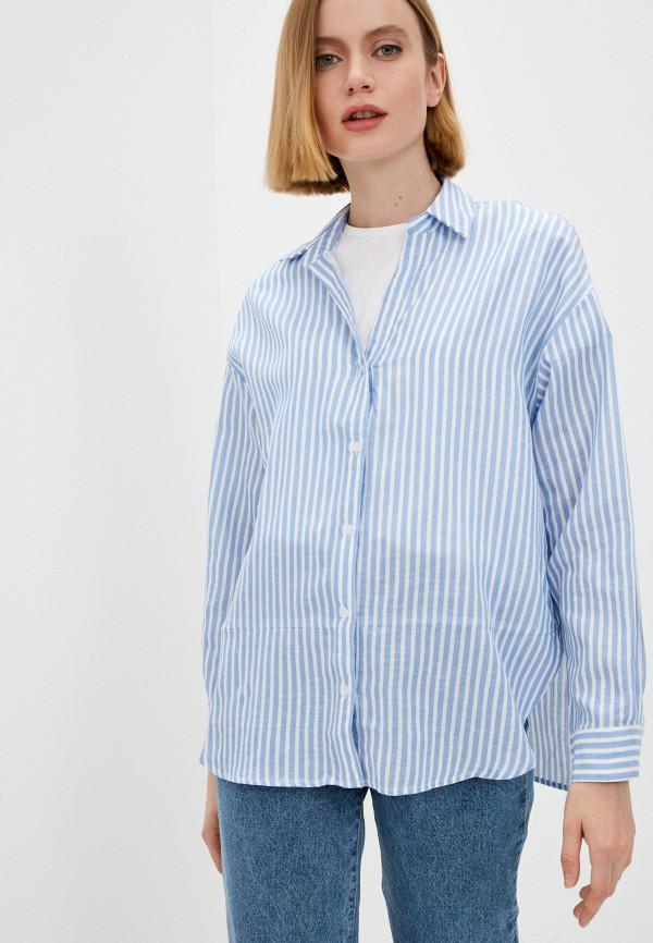 женская блузка с длинным рукавом baon, голубая