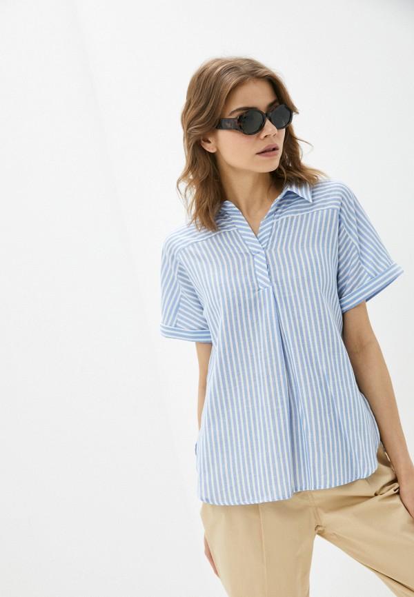 женская блузка с коротким рукавом baon, голубая