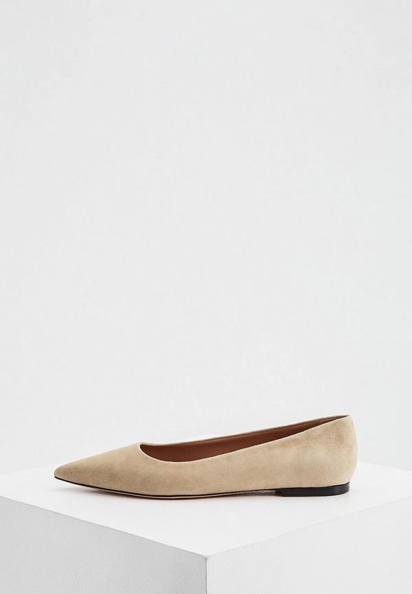 женские туфли с закрытым носом boss, бежевые