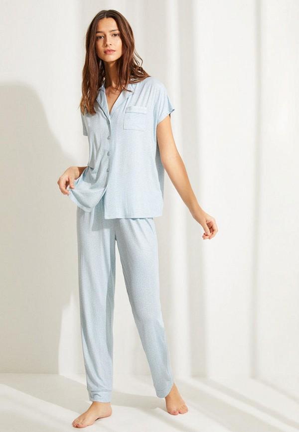 женская пижама women'secret, голубая