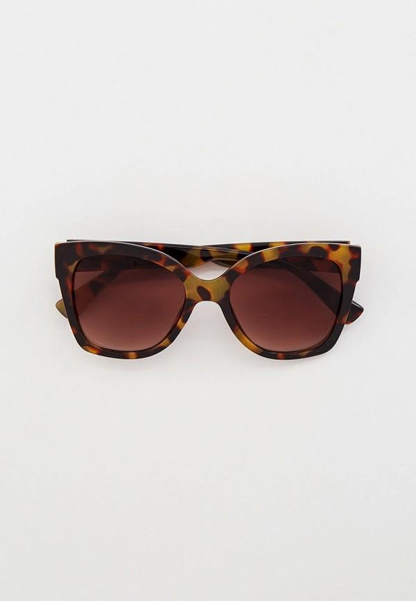 женские солнцезащитные очки кошачьи глаза mon mua, коричневые