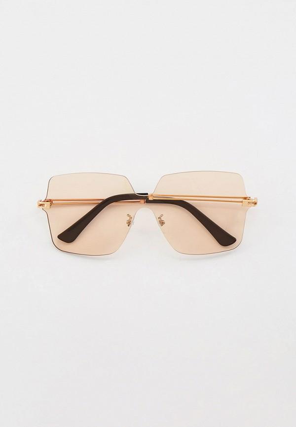 женские квадратные солнцезащитные очки mon mua, бежевые