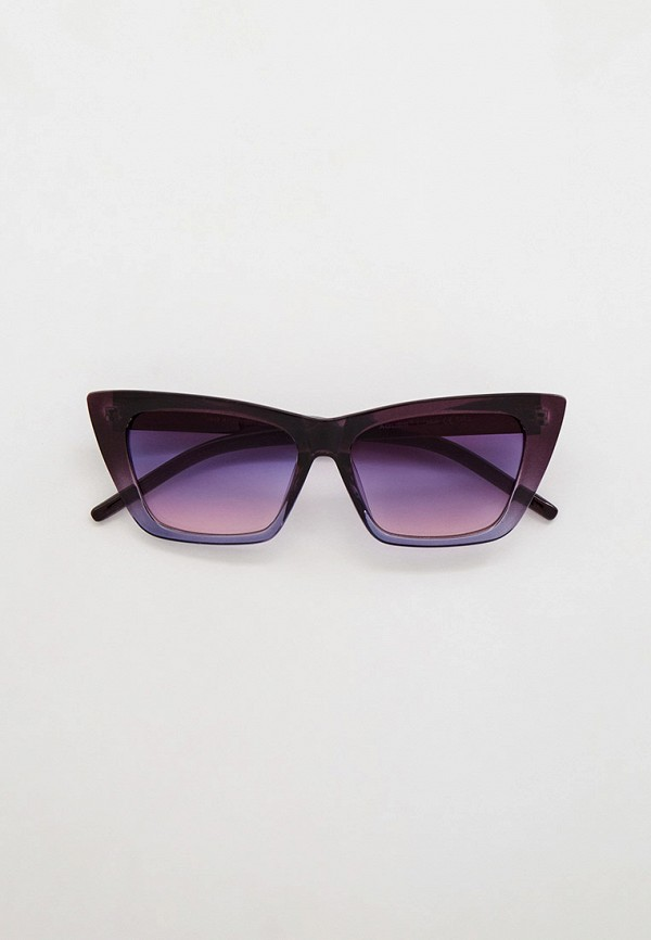 женские солнцезащитные очки кошачьи глаза mon mua, фиолетовые