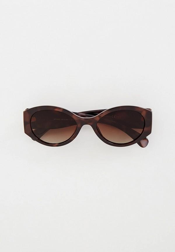 женские круглые солнцезащитные очки mon mua, коричневые