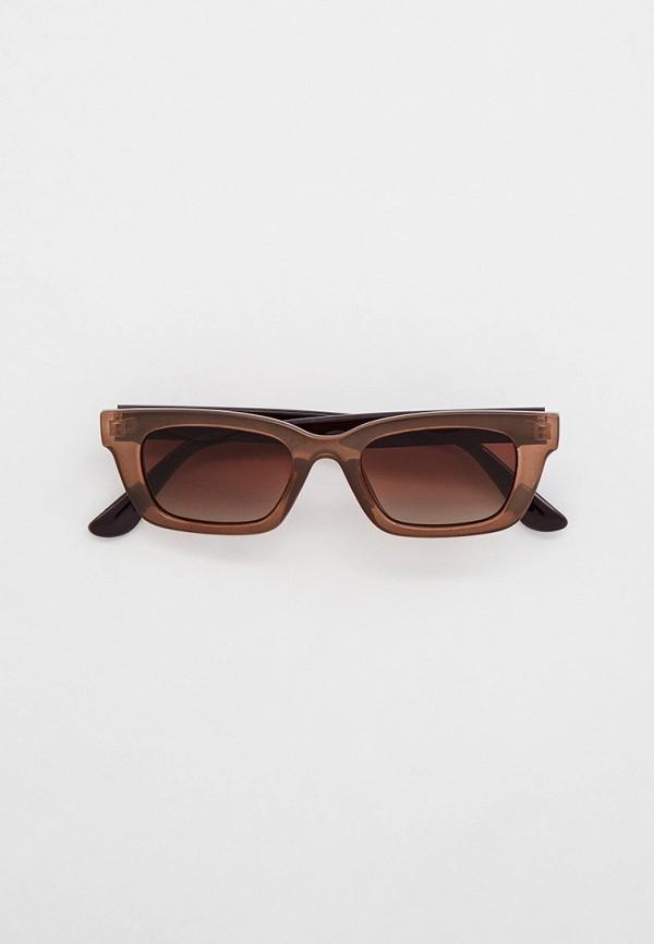 женские солнцезащитные очки mon mua, коричневые