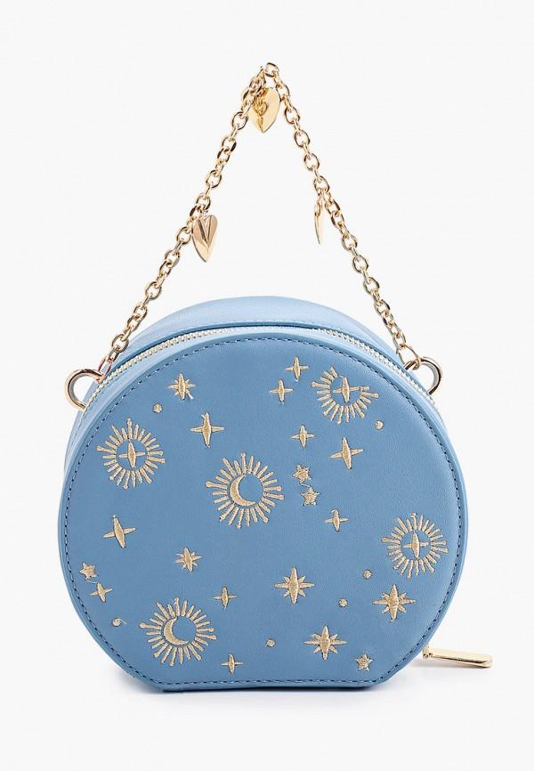 женская сумка с ручками артми, голубая