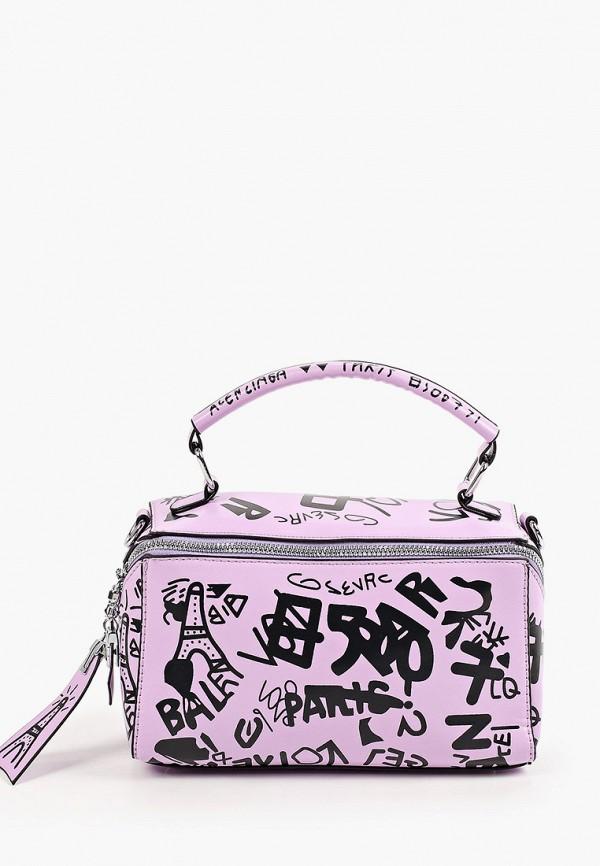 женская сумка с ручками артми, фиолетовая