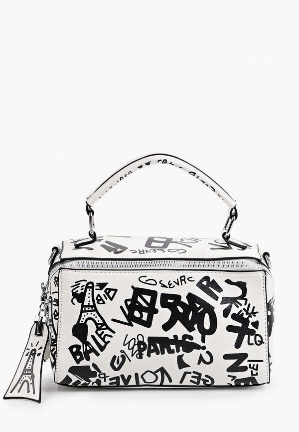 женская сумка с ручками артми, белая