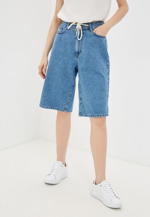 женские джинсовые шорты sela, голубые