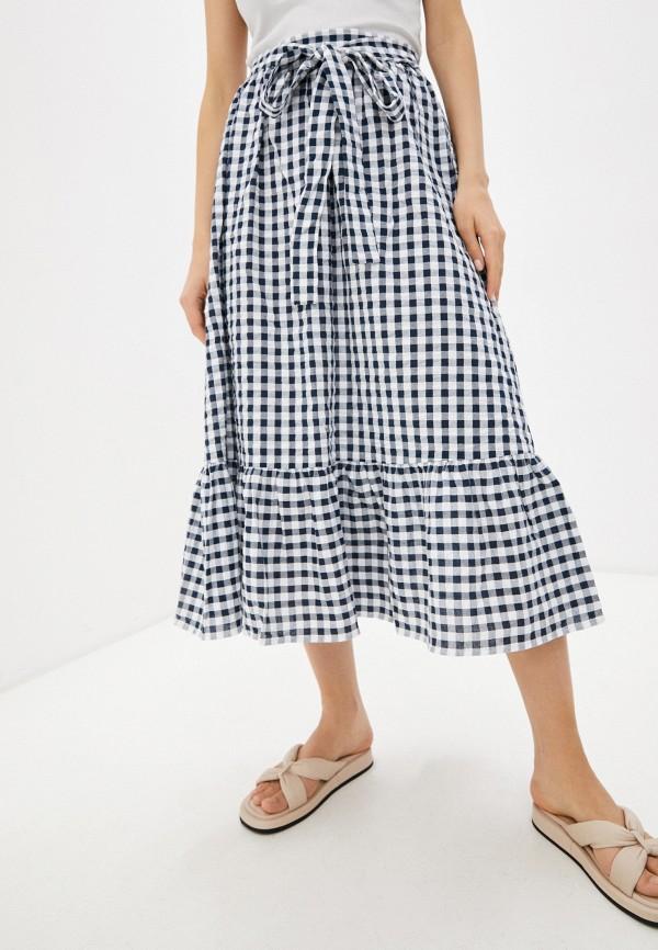 женская юбка-трапеции sela, синяя