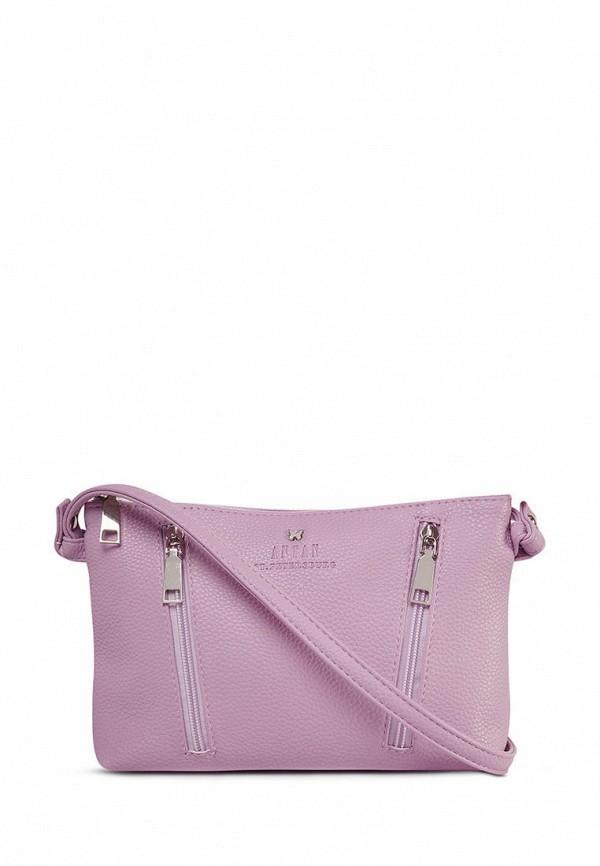 женская сумка через плечо antan, фиолетовая