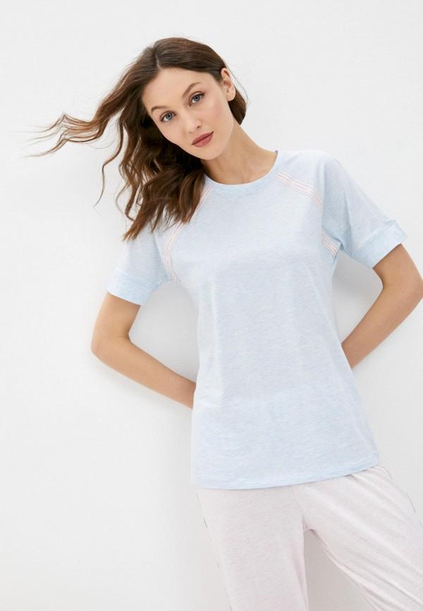 женская футболка intimissimi, голубая