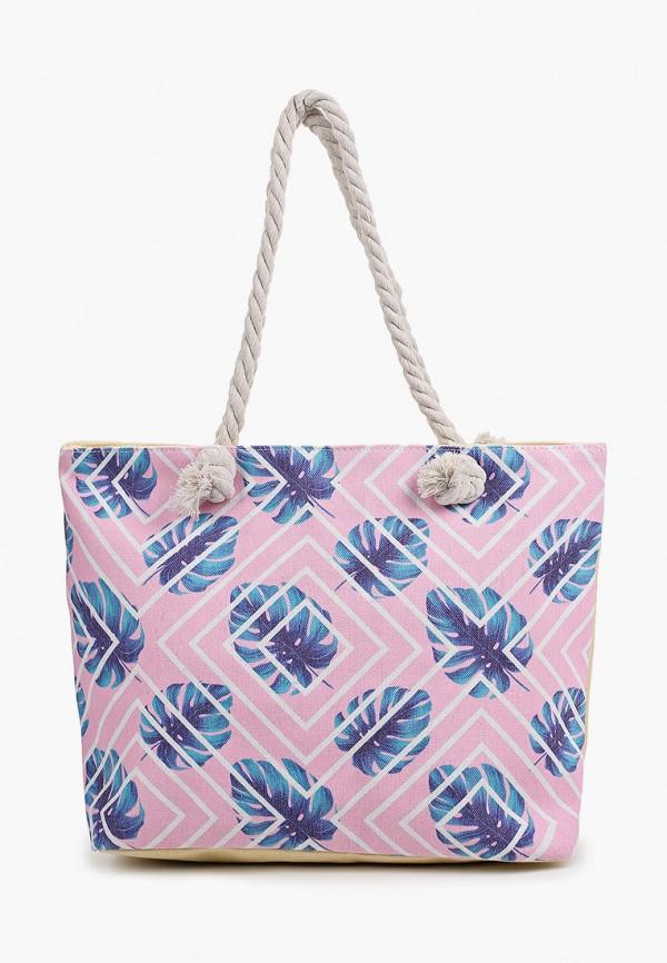 женская пляжные сумка живой шелк, розовая