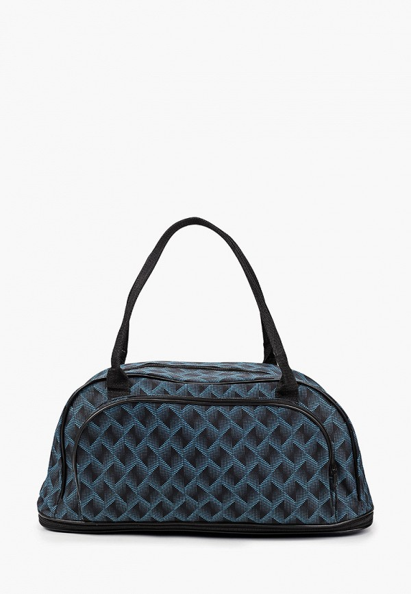 женская сумка-шоперы живой шелк, бирюзовая