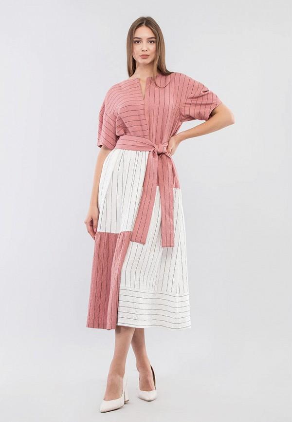 женское повседневные платье maxa, розовое