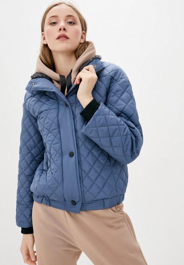 женская куртка sfn, голубая