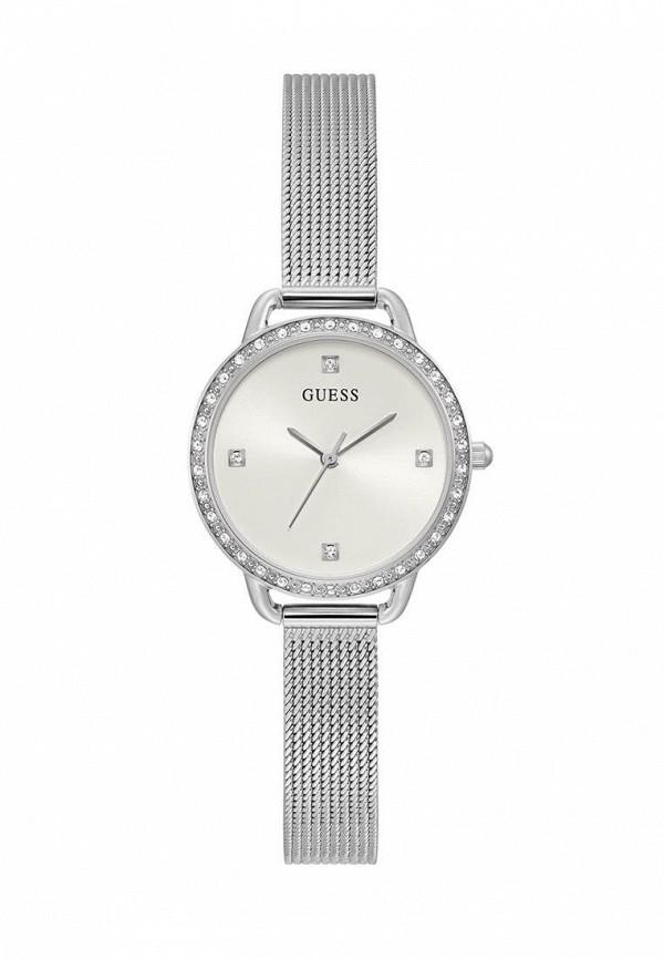 женские часы guess, серебряные