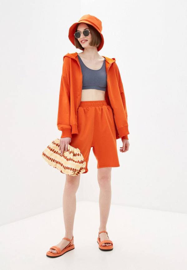 женский костюм euros style, оранжевый