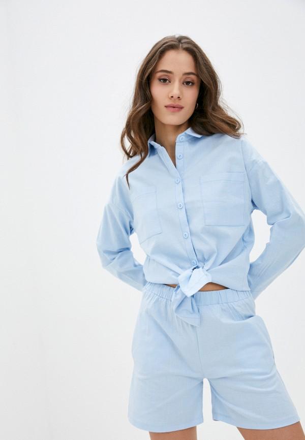 женский костюм euros style, голубой