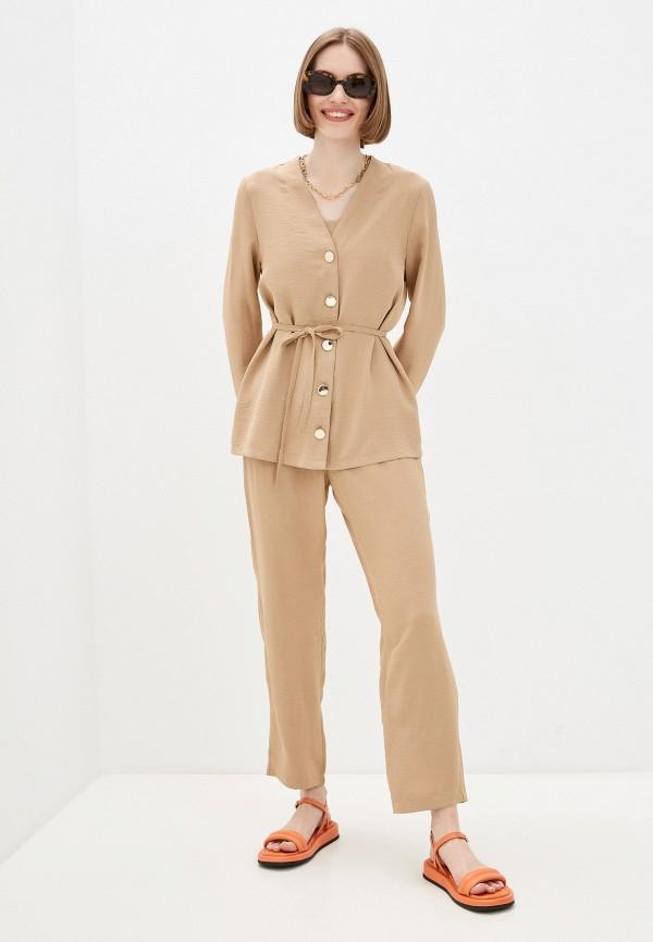 женский костюм euros style, бежевый