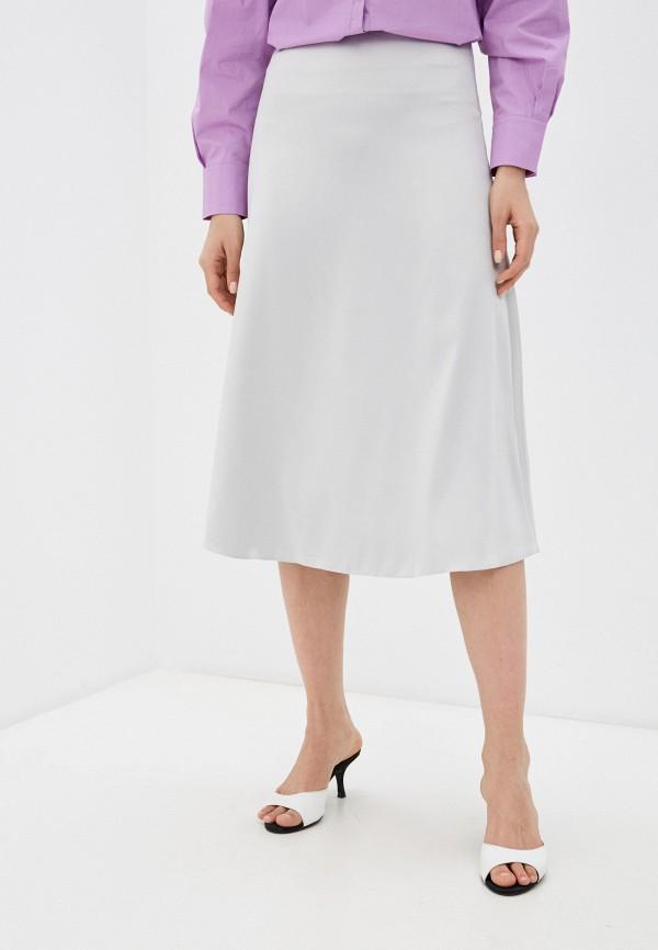 женская юбка-трапеции julswan, серебряная