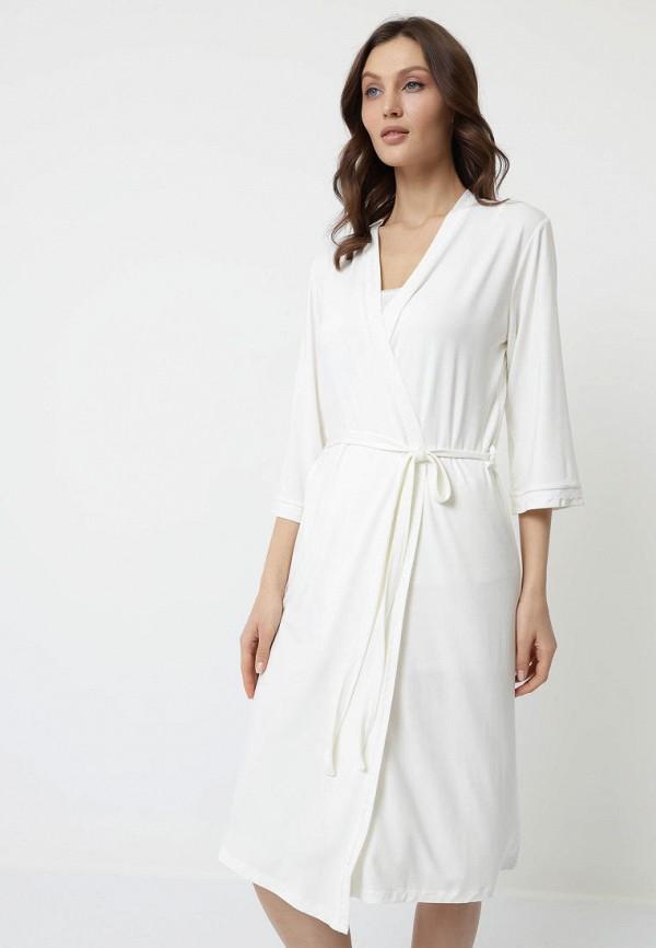 Халат и пижама Luisa Moretti белого цвета