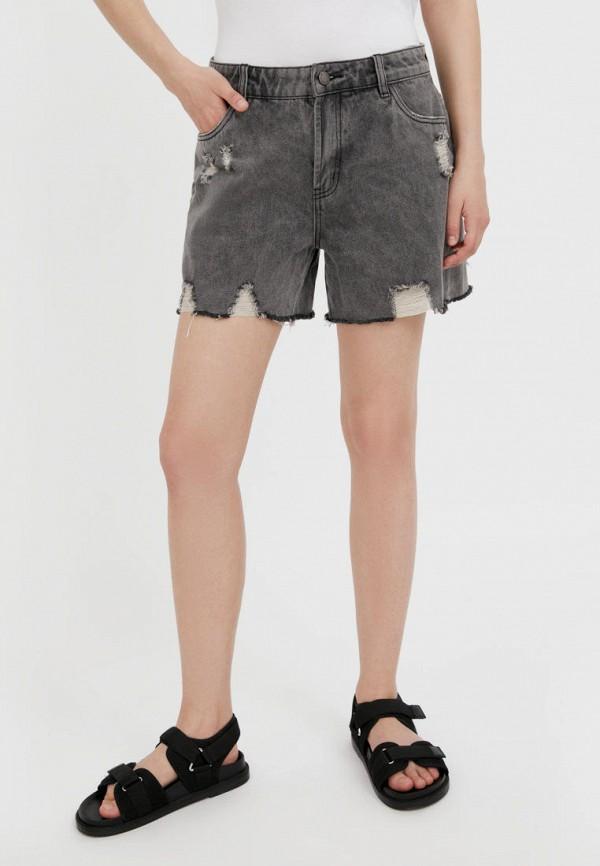 Шорты джинсовые Finn Flare серого цвета