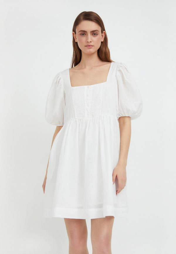 Платье Finn Flare белого цвета
