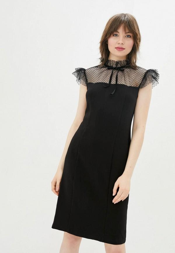 женское платье-футляр sfn, черное