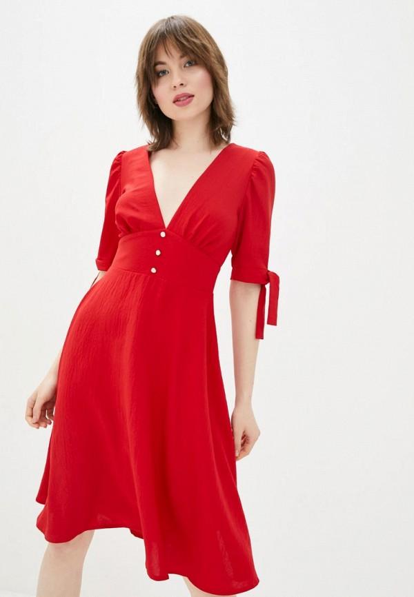 женское повседневные платье sfn, красное