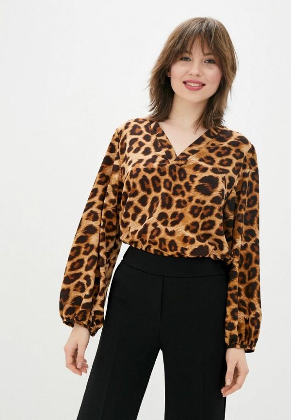 женская блузка sfn, коричневая