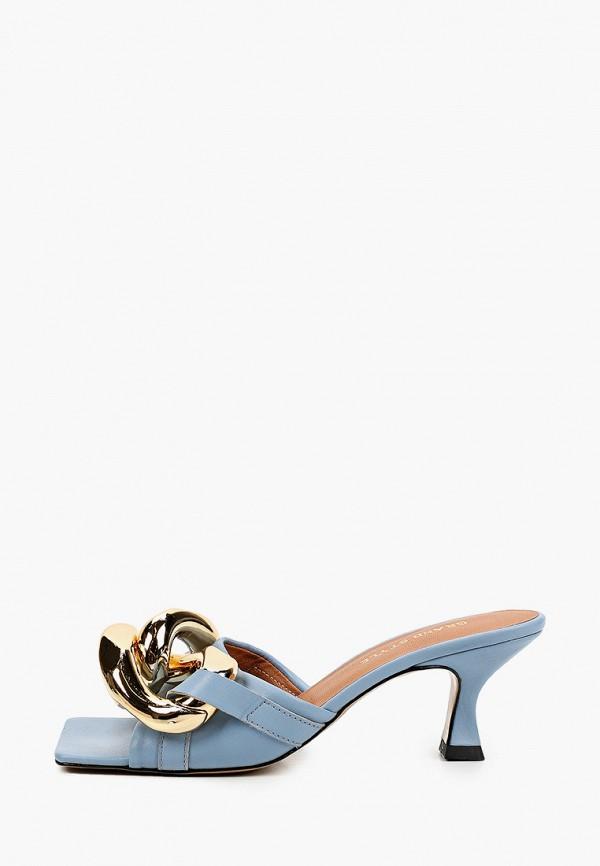 женское сабо grand style, голубое
