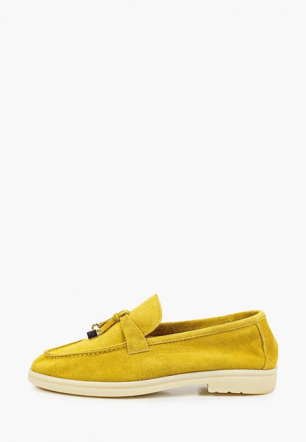 женские лоферы grand style, желтые