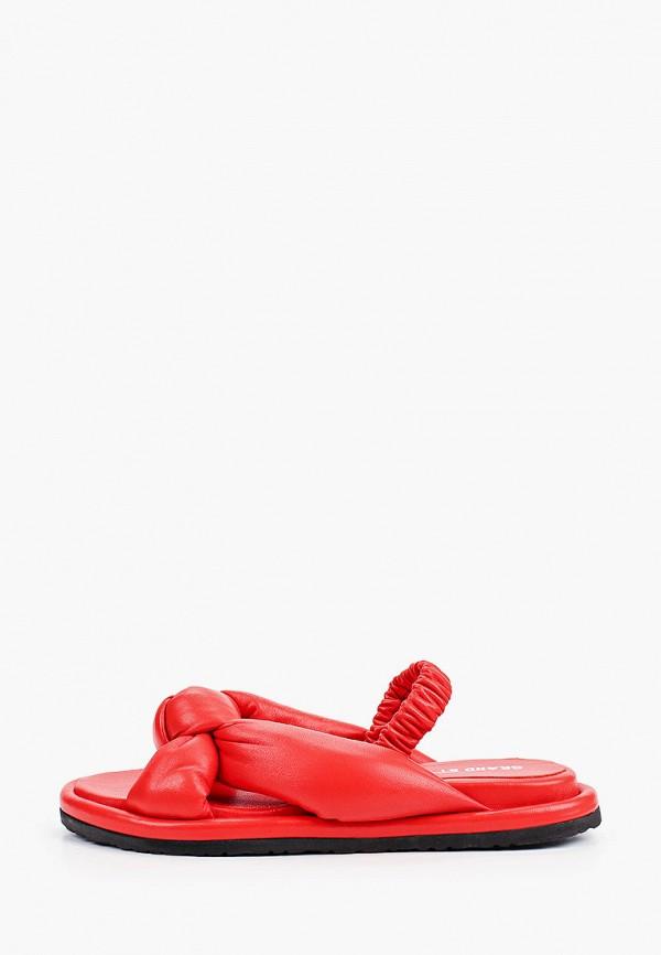 женские сандалии grand style, красные