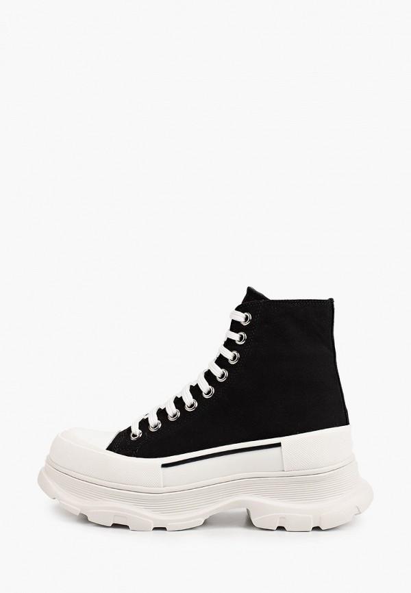 женские высокие кроссовки grand style, черные
