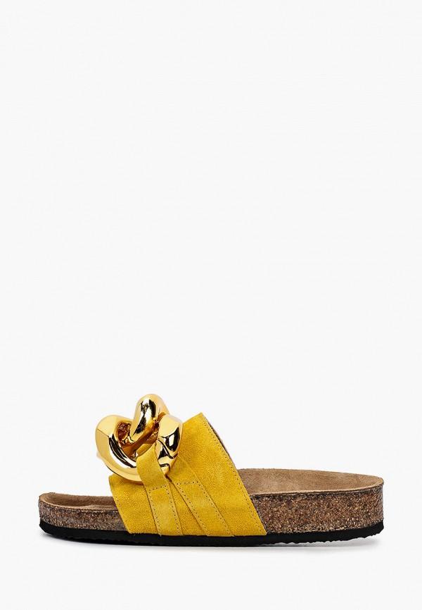 женское сабо grand style, желтое