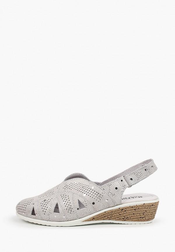 женские туфли makfine, серебряные