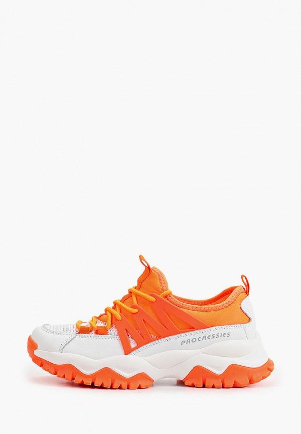 женские низкие кроссовки makfine, оранжевые