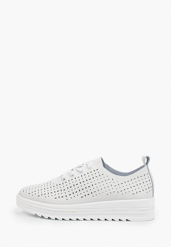 женские низкие ботинки makfine, белые