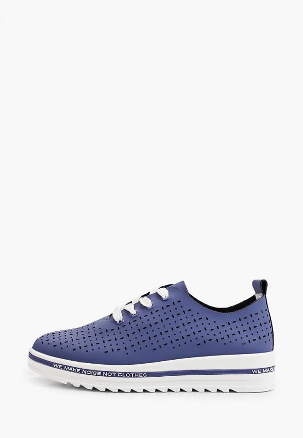 женские низкие ботинки makfine, синие