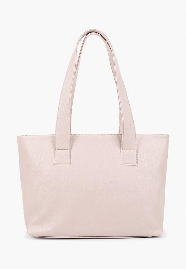 женская сумка с ручками solo, бежевая