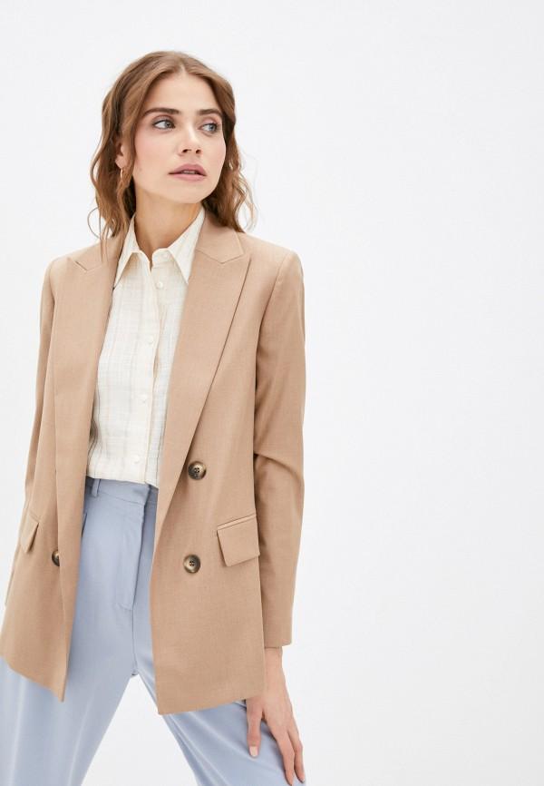 женский пиджак lusio, бежевый